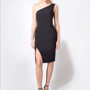 NWT Likely Helena One Shoulder Slit Formal Dress